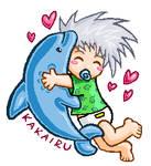 Baby Kakashi and his Iruka