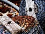 Barbed wire bobbin