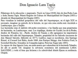 1883 Don Ignacio Lara Tapia