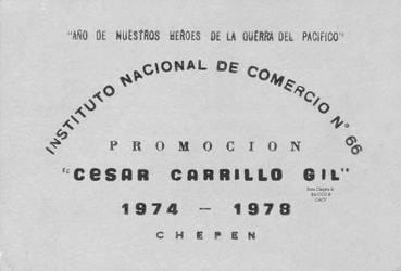 1978 (5) Invitacion Fiesta de Promocion Instituto  by Chepen-Ruta