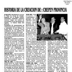 1984 (1) Historia de la Creacion de Chepen Provinc by Chepen-Ruta
