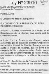 1984 (6) 1984-09-06 Ley N 23910 Creacion de la P by Chepen-Ruta