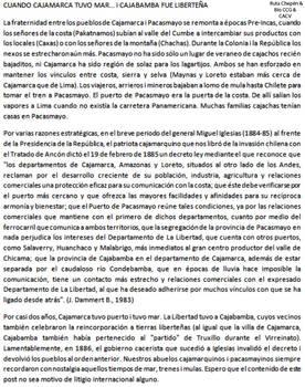 1885 Cuando Cajamarca tenia Mar y Cajabamba fue Li