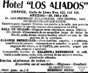 1929 Hotel Los Aliados by Chepen-Ruta