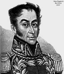 1a 1825 Simon Bolivar acampa en Lurifico en su pas
