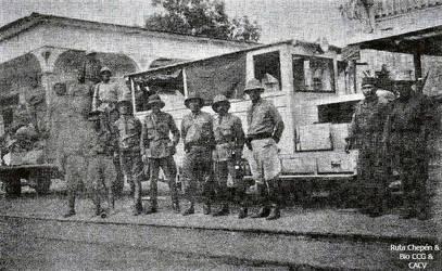 1941 Estacion de Machala de izq a der Cop Alfredo