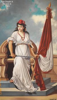 9a3b La Madre Patria pintura Emilio Burga Castae