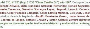 1967 (6b) Profesores del Colegio el Centro N 233