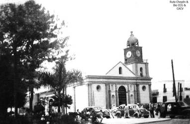1940-50 Plaza de armas carros de la epoca comites