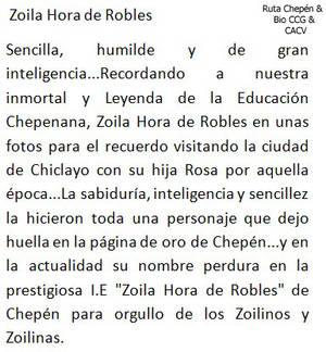 1955 (7a) 1950-55 Zoila Hora de Robles Ex Director