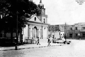 1958 (10a) La Plaza de Armas Iglesia Municipio