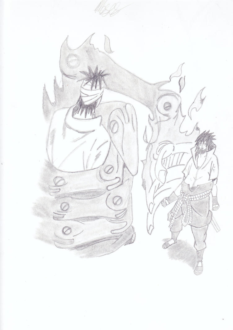 sasuke vs danzo by Vanitus1