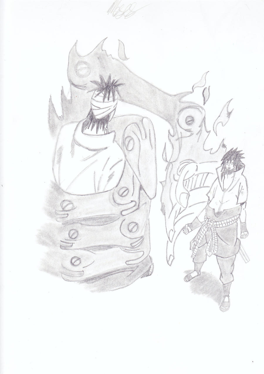 sasuke vs danzo by Vanitus1