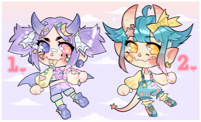 (1/2 AP) OTA Decora adopts! by KoiKoiSenpai