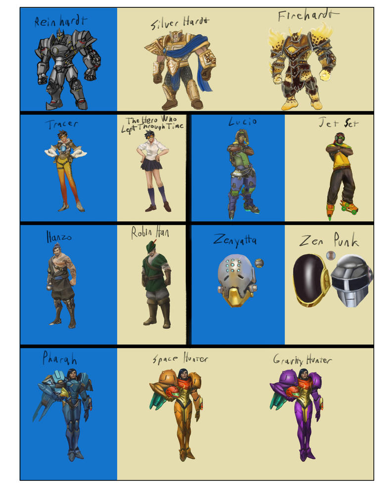 Overwatch Studies + Skins by IMONFIREGUYx on DeviantArt