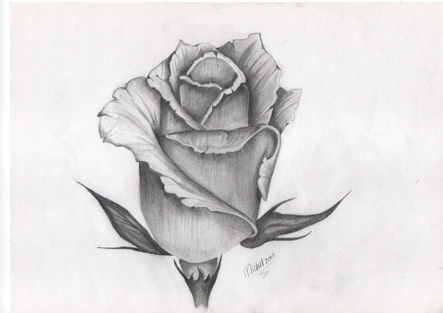 Rose Bud Tattoo Drawing