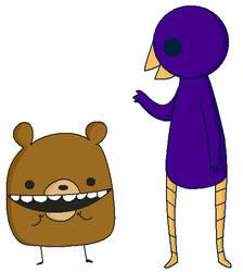 Beartato And Reginald by KiwiPrince