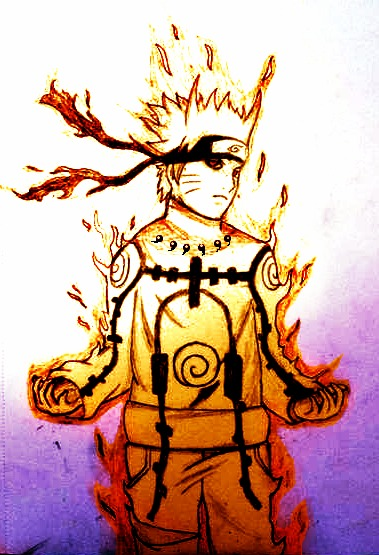 Naruto- Nine Tails Chakra Mode by JeiGoWAY on DeviantArt