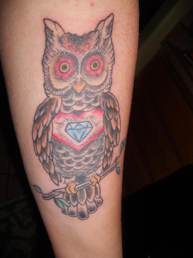 Owl tattoo by sara7x on deviantart for Owl heart tattoo