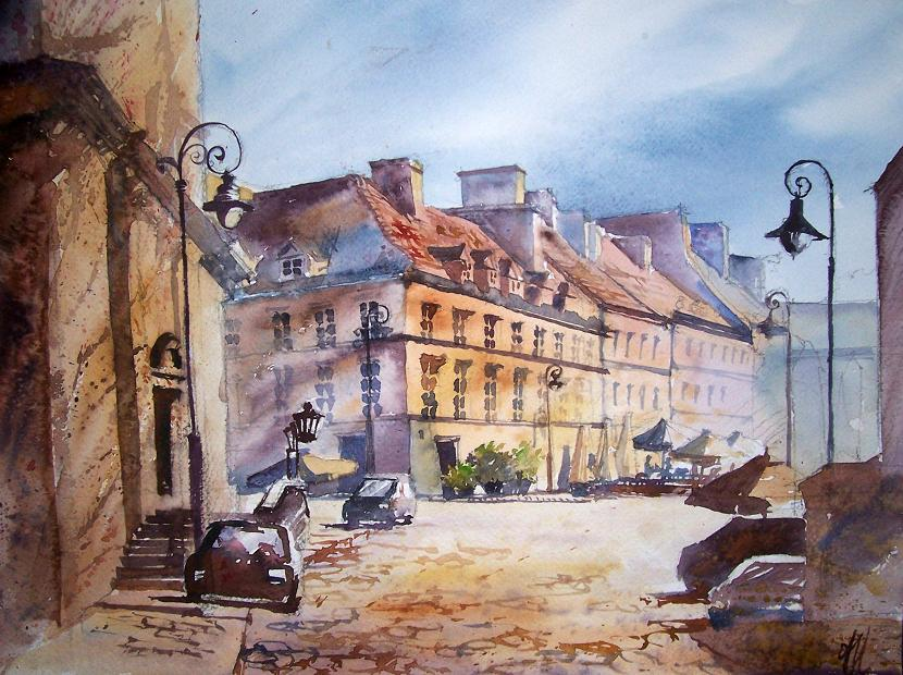 Warsaw - Freta street - Amazing Street Paintings