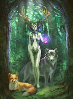 Lady of the Forest by jameli