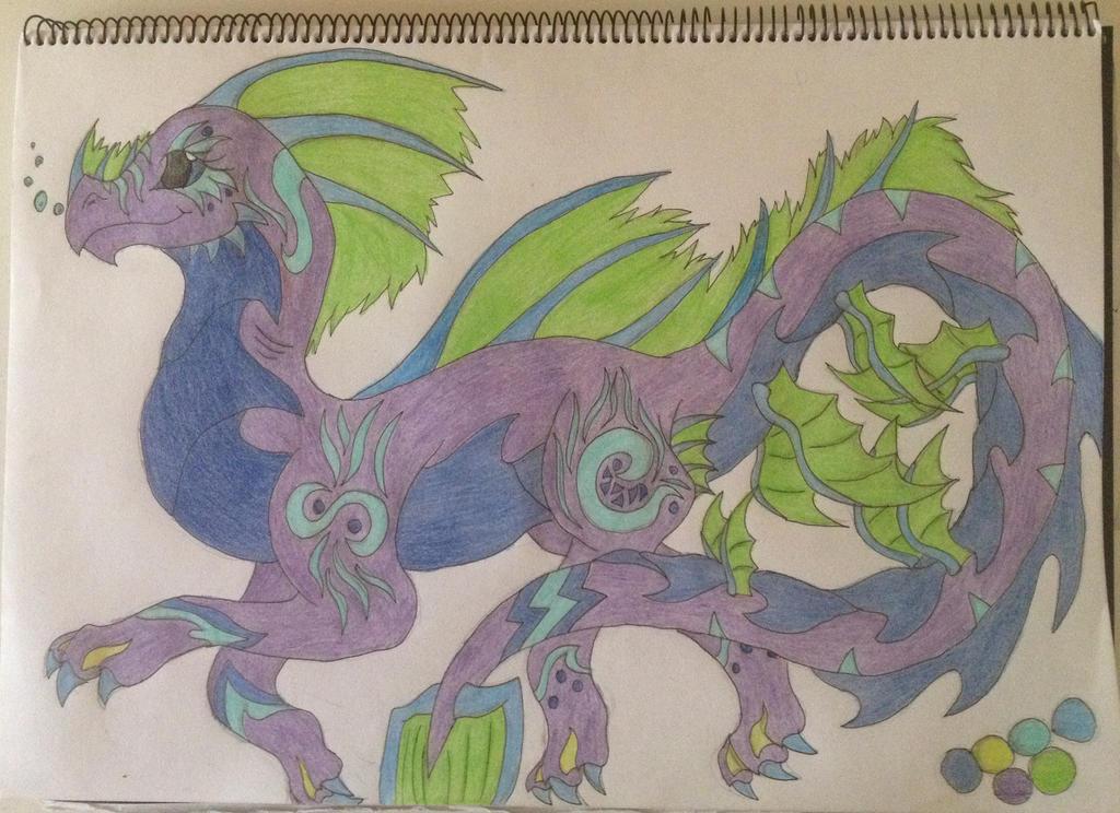 Custom water/sea dragon by Gerbygup