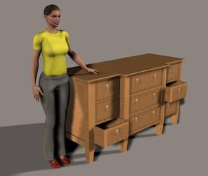 Drawer Dresser - Blender 3D by miguelsantos