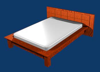 Bed - Blender by miguelsantos
