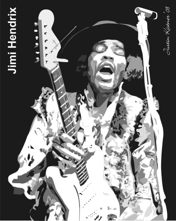 jimi hendrix vector samplejustin33k on deviantart