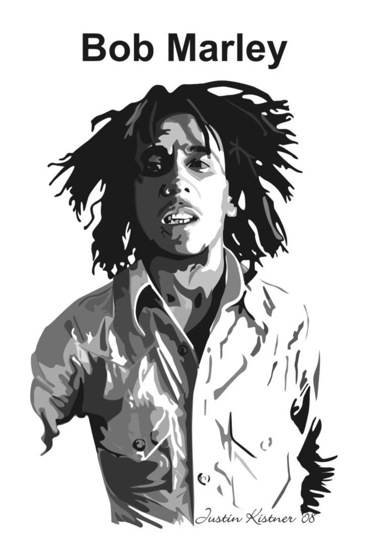 Bob Marley vector SAMPLE by justin33k on DeviantArt
