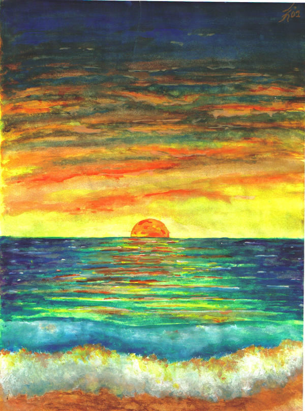 Sunset Watercolor by justin33k