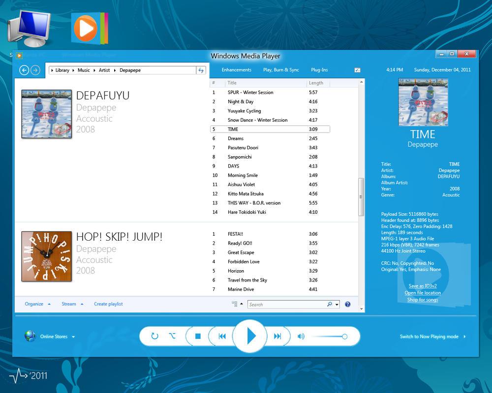 Project metroui iii windows media player 13 by for 13 window