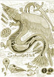 Snallygaster Anatomy Illustration