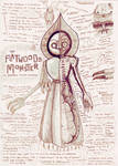 Flatwoods Monster Anatomy Study Drawing