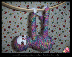 Rainbow Sloth by UnicornReality