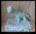 Dinosaur and Baby Blanket