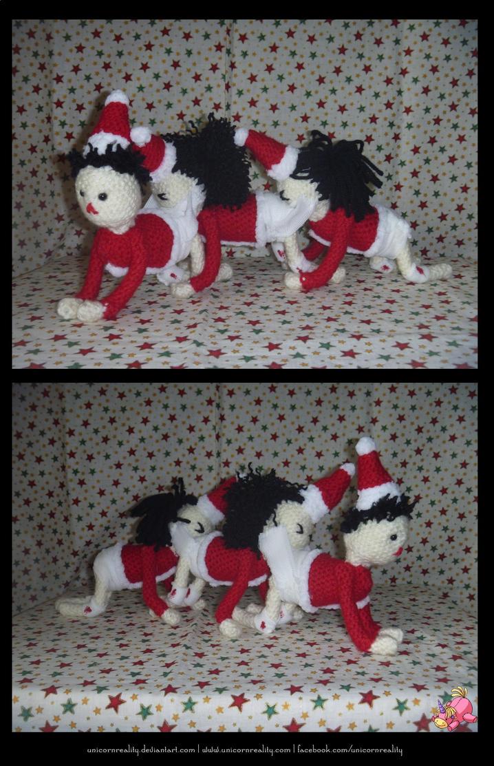 Human Santapede by UnicornReality