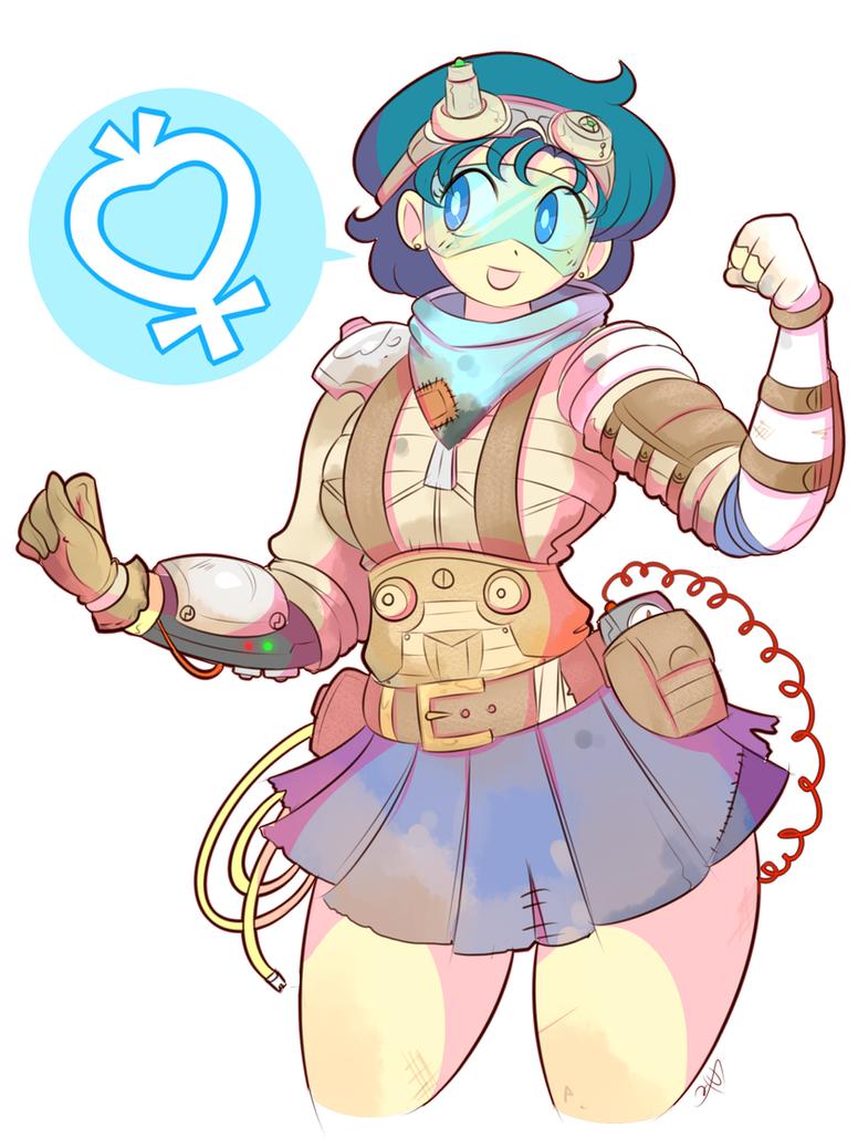 Sailor Mercury: Wasteland Technician by theycallhimcake