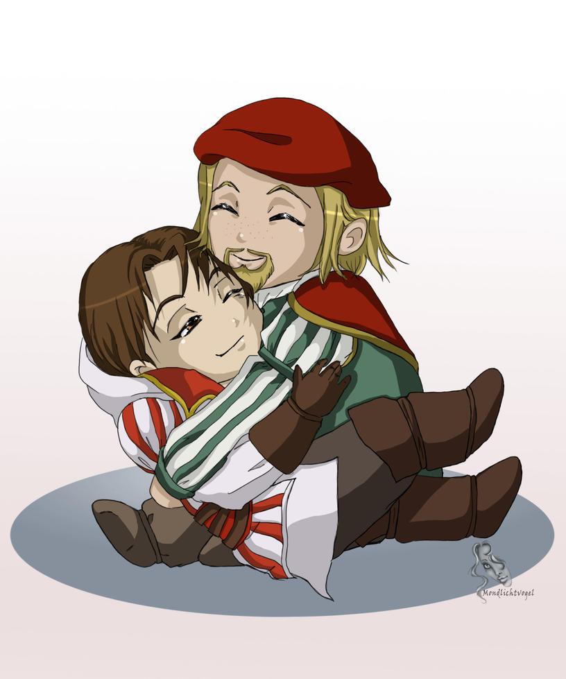 AC: Leonardo and Ezio by Mondlichtvogel