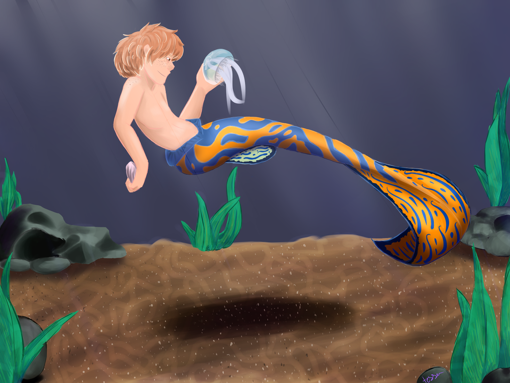 Mermaid coby by waywardJellyfish