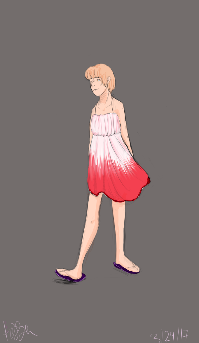 Coby in a summer dress by waywardJellyfish