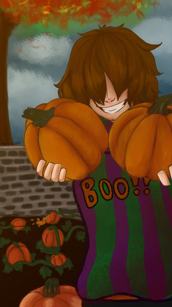 Casey and his prized pumpkins