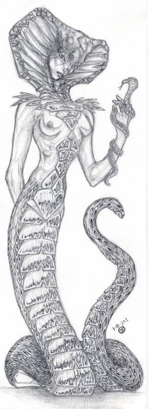 Serpent Goddess Bookmark