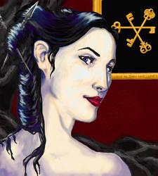 Portait of Melisande Shahrizai by Cypher-Calliste