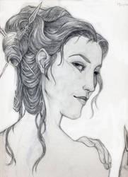 Faces of Melisande - pencil by Cypher-Calliste