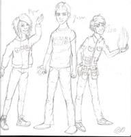 The Lost Hero Trio by ElakuDark