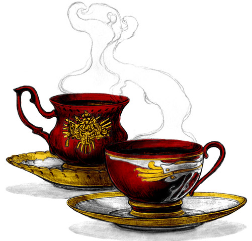 Tea cups colored by Shiyan-Kemosabi