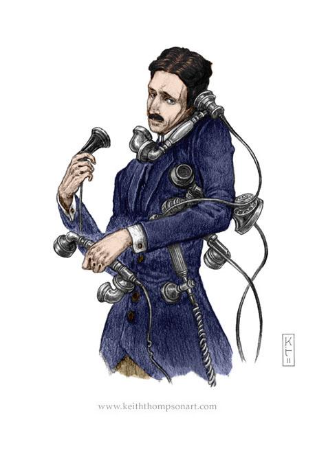 Nikolai Tesla colored by Shiyan-Kemosabi
