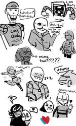 Undertale sketch dump by Dapseii