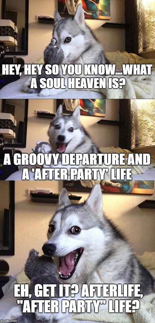 Afterlife Joke  Bad Pun Doggo by Disukofarao